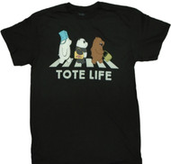 We Bare Bears - Tote Life Ice Bear Adult T-Shirt