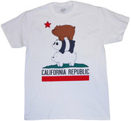 We Bare Bears California Republic Bear Stack Adult T-Shirt
