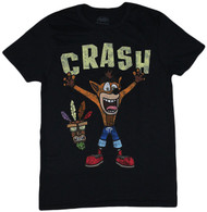 Crash Bandicoot Distressed Crash Under Logo Adult T-Shirt