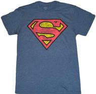 Superman Distressed Logo Adult T-Shirt