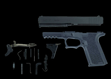 80% Glock 17 22 Polymer 80 with slide and parts kit.