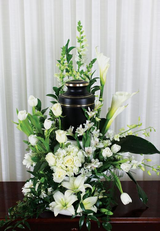 Loved And Missed Urn Arrangement Rose Amp Blossom