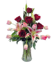 Fresh Love- Roses, Tulips, Oriental Lilies