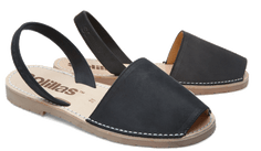 Solillas Menorcan Sandals - Vesper - black and caramel