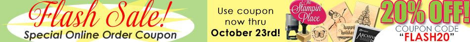 Flash Coupon! Now thru October 23rd