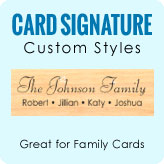 Card Signature Stamps