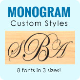 Monogram Custom Stamp Styles