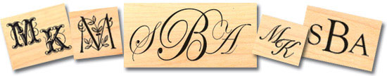 Monogram Rubber Stamp Styles