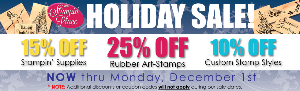 Holiday Sale, Now through December 1st!