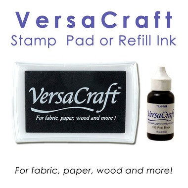 VersaCraft Ink Stamp Pad or Refill / Reinker (Fabric Ink)
