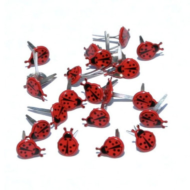 Mini Lady Bug Brads