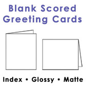 White Scored Greeting Cards