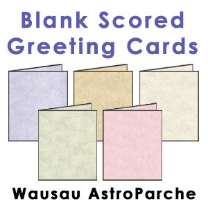 Wausau AstroParche Scored Greeting Cards