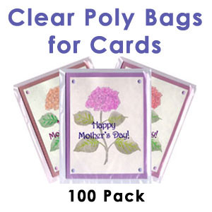Clear Poly Bags for Cards