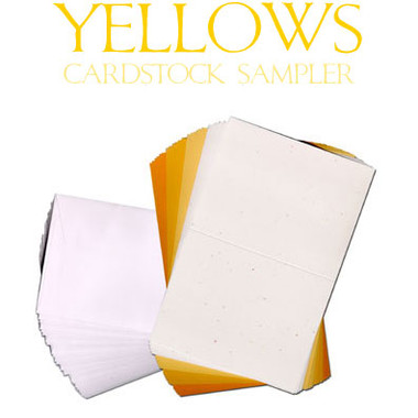 Yellows Cardstock Sampler