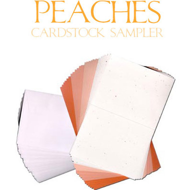Peaches Cardstock Sampler