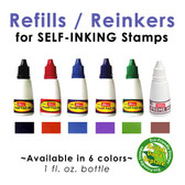 Refill / Reinker for SELF-INKING Mounts (1 oz)