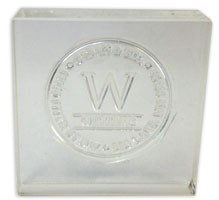 """Clear Stamp/Acrylic Mount (4"""" x 6"""") from your custom artwork file. Sample shown for reference only."""