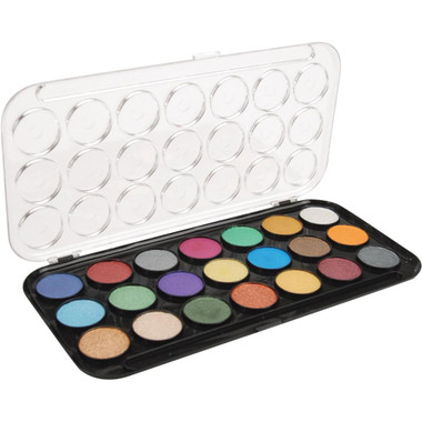 Pearlescent Watercolor Paint Set - 21 colors