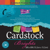 "Core'dinations: Core Essentials: Brights Cardstock Pad 6"" x 6"""