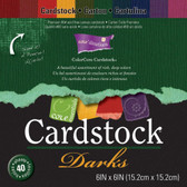 "Core'dinations: Core Essentials: Darks Cardstock Pad 6"" x 6"""