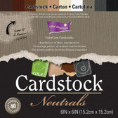 "Core'dinations: Core Essentials: Neutrals Cardstock Pad 6"" x 6"""