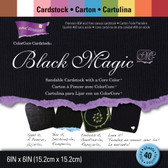 "Core'dinations: Black Magic Cardstock Pad 6"" x 6"""