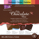 "Core'dinations: Chocolate Box Cardstock Pad 6"" x 6"""