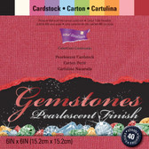 "Core'dinations: Gemstones Cardstock Pad 6"" x 6"""