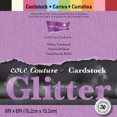 "Core'dinations: Glitter Cardstock Pad 6"" x 6"""