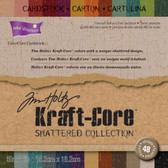 "Core'dinations: Tim Holtz Kraft-Core: Shattered Cardstock Pad 6"" x 6"""