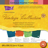 "Core'dinations: Vintage Cardstock Pad 6"" x 6"""