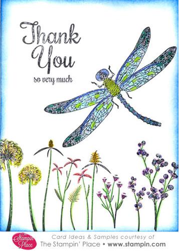 Dragonfly Thank You So Very Much Card Ideas Amp Samples