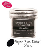 Embossing Powders: Super Fine Detail: Black