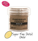 Embossing Powders: Super Fine Detail: Gold