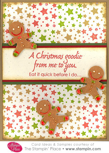 gingerbread man christmas goodie   card ideas  u0026 samples   rubber stamps  art stamps  custom