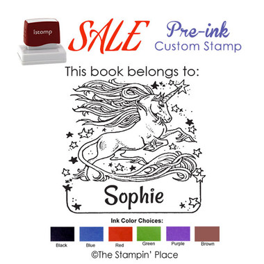 SPECIAL CUSTOM: Unicorn Style: Pre-ink Stamp