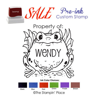 SPECIAL CUSTOM: Frog Style: Pre-ink Stamp