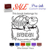 SPECIAL CUSTOM: Turtle Style: Pre-ink Stamp
