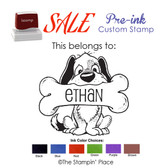 SPECIAL CUSTOM: Puppy Dog Style: Pre-ink Stamp