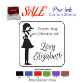 SPECIAL CUSTOM: Silhouette Girl Style: Pre-ink Stamp