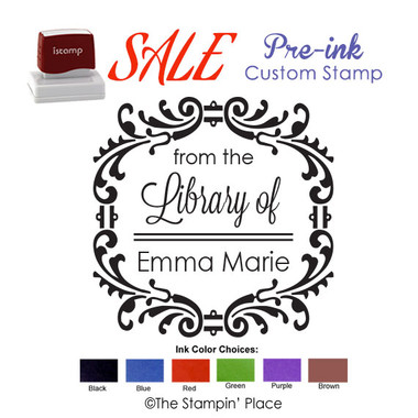 SPECIAL CUSTOM: Fancy Frame Style: Pre-ink Stamp