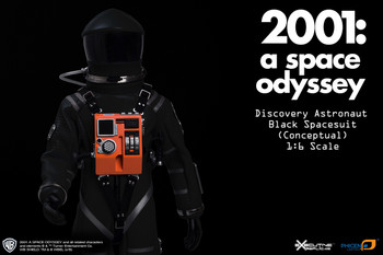 2001: A SPACE OYSSEY BLACK CONCEPTUAL DISCOVERY ASTRONAUT 1/6TH SCALE SPACE SUIT