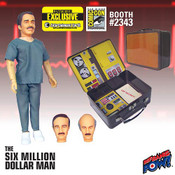 Six Million Dollar Man Dr. Wells with Tin Tote - Convention Exclusive Case