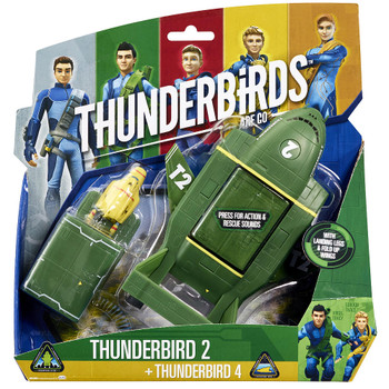 Thunderbirds 2 and Mini Thunderbirds 4 Vehicle Playset