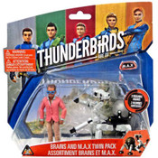 Thunderbirds Are Go Brains & M.A.X. Action Figure 2-Pack