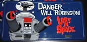 Lost in Space Robot License Plate