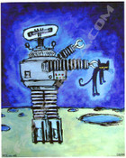 Pete The Cat Robot Giclee Prints
