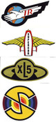 Stickers - Thunderbirds XL5 Supercar & Captain Scarlet