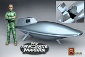 "MY FAVORITE MARTIAN 1/8 SCALE """"UNCLE MARTIAN & SPACESHIP"""" model kit"